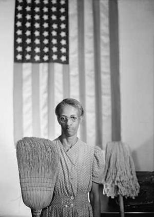 American Gothic, Portrait of Ella Watson, Washington, D.C., 1942. Gordon Parks (FSA)